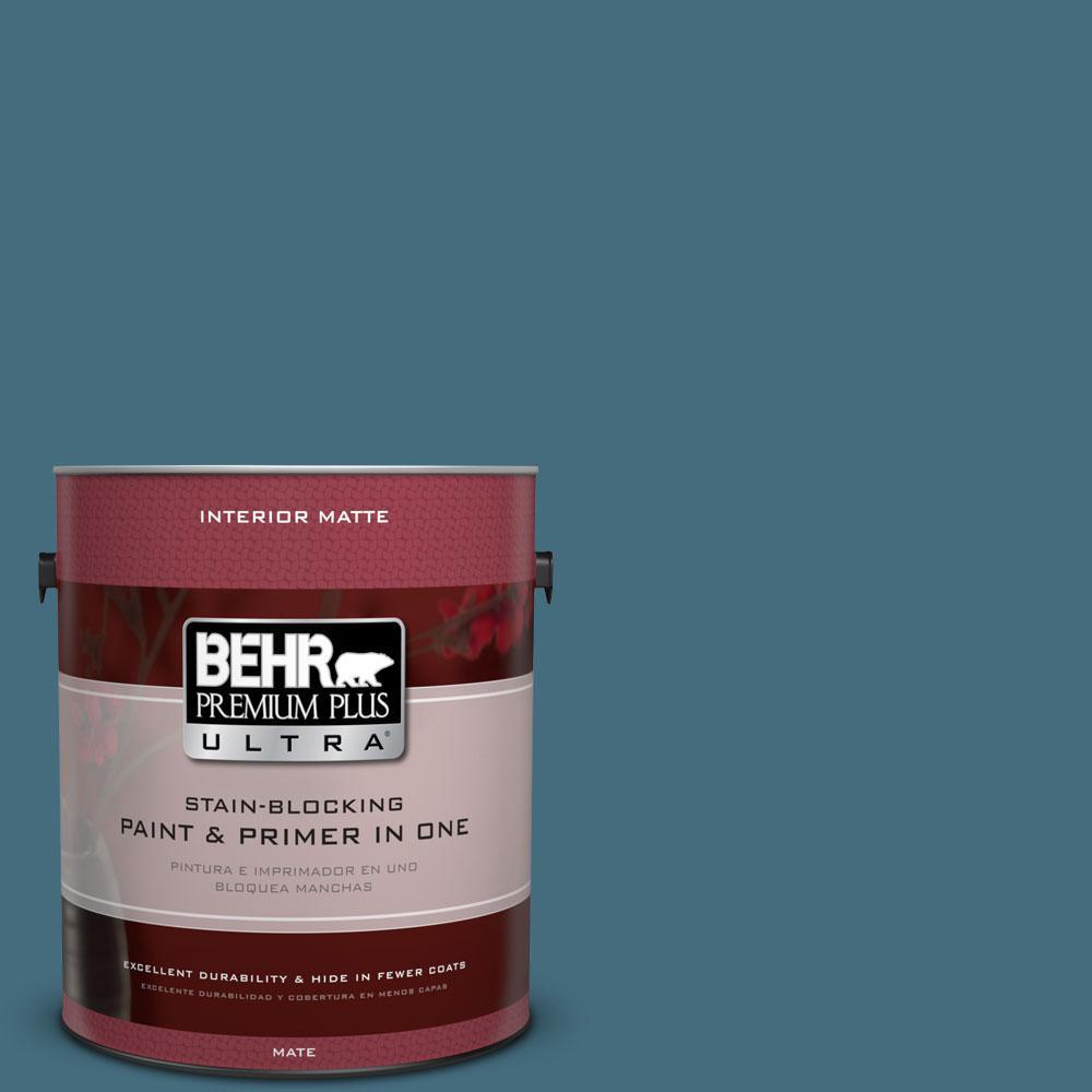 BEHR Premium Plus Ultra 1 gal. #S480-6 Poseidon Matte Interior Paint