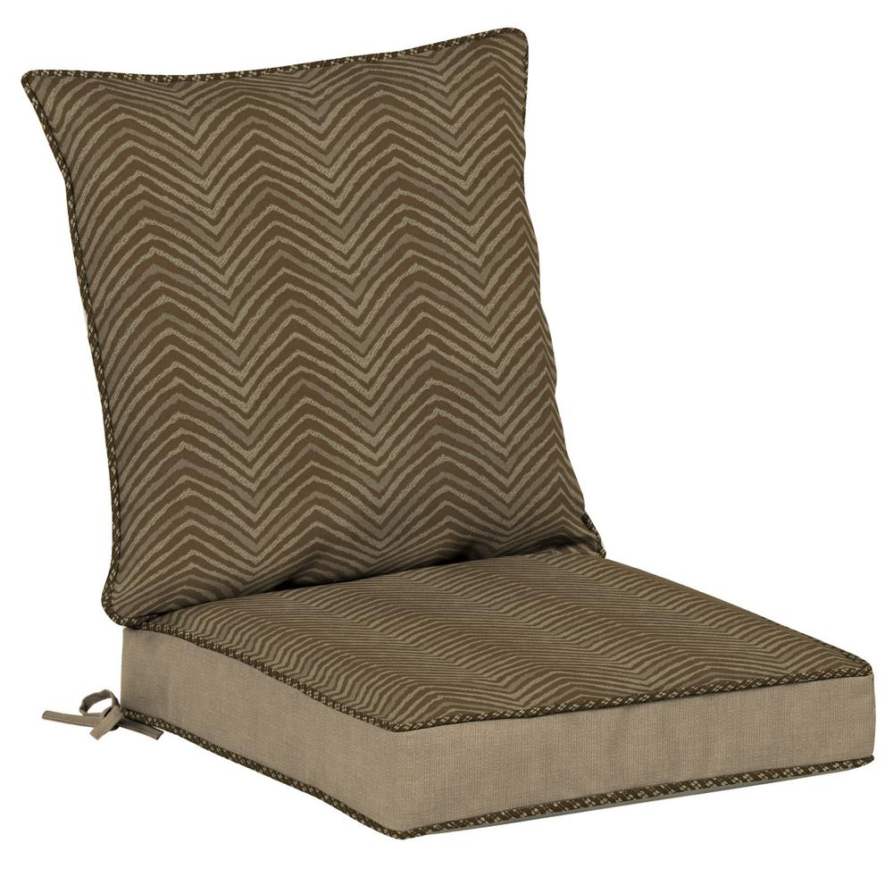 Bombay Outdoors Zebra Snap Dry 2 Piece Deep Seating Outdoor Dining Chair  Cushion