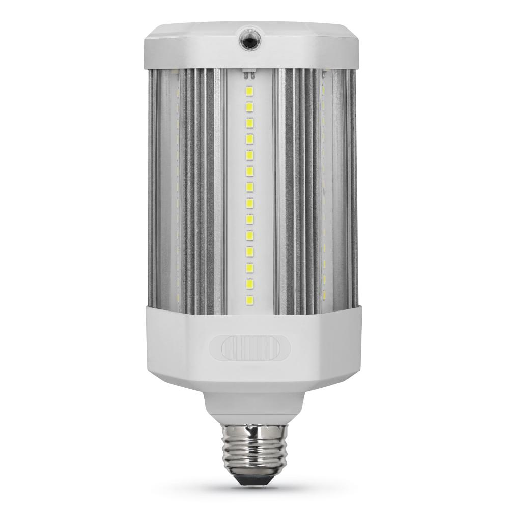 Feit Electric 300W Equivalent Corn Cob Motion Activated & Dusk To Dawn High Lumen Daylight (5000K) HID Utility LED Light Bulb (1-Bulb)