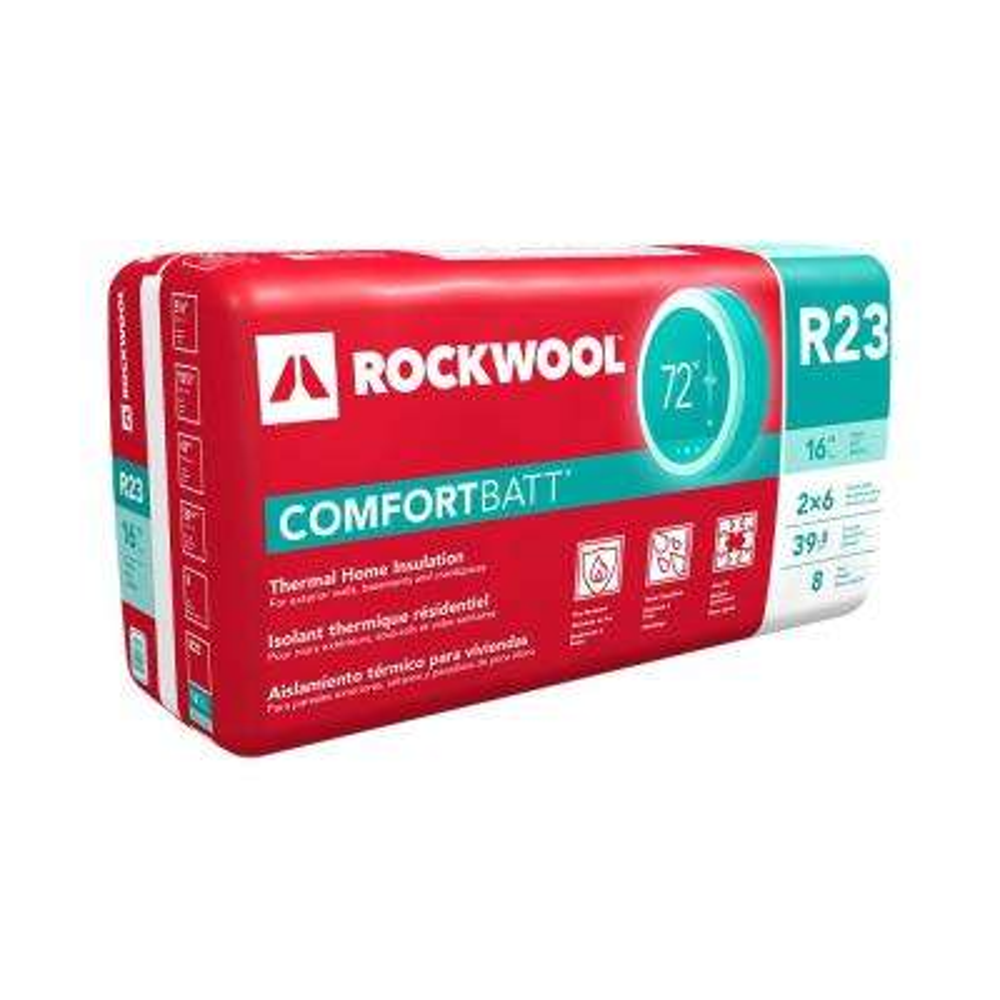 ComfortBatt 5-1/2 in. x 15-1/4 in. x 47 in. R-23 Fire Resistant Stone Wool Insulation (12-Bags)