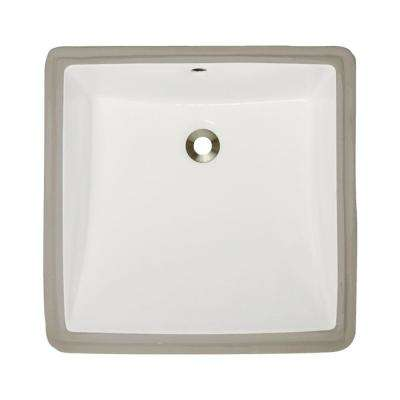 Undermount Porcelain Bathroom Sink in Bisque