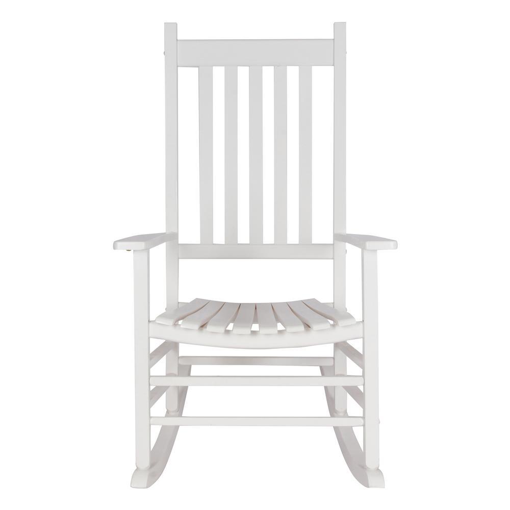 Trending Shine Company Vermont White Wood Outdoor Porch Rocker - Sale: $115.99 USD