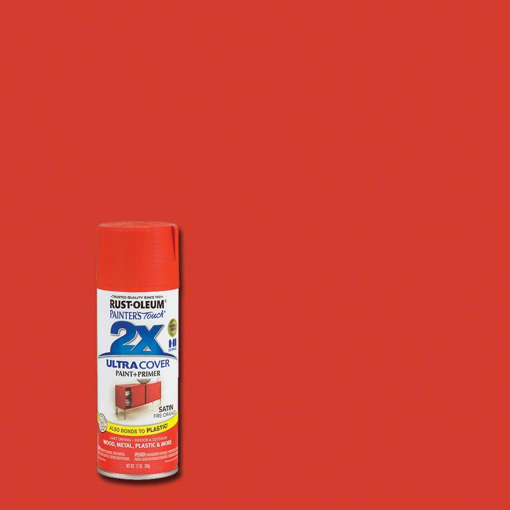 12 oz. Satin Fire Orange General Purpose Spray Paint