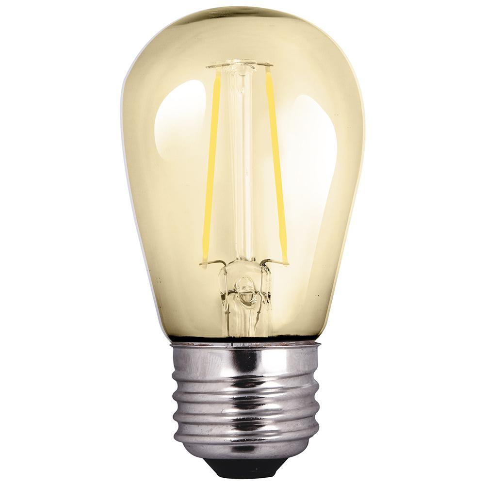 25-Watt Equivalent 2-Watt S14 Dimmable LED Antique Vintage Style Amber Sign Light Bulb 81140