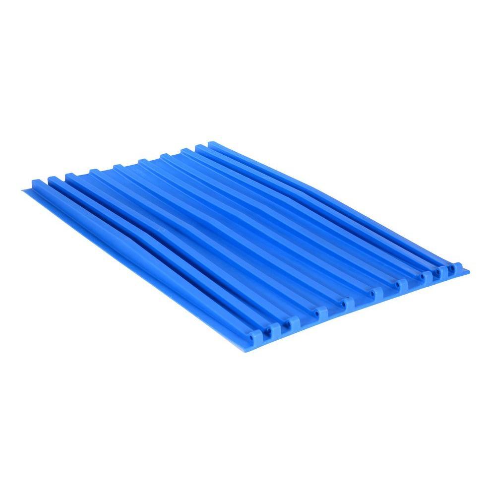 Vestil 1.5 cu. yd. Blue Poly Lid for D Style Hopper