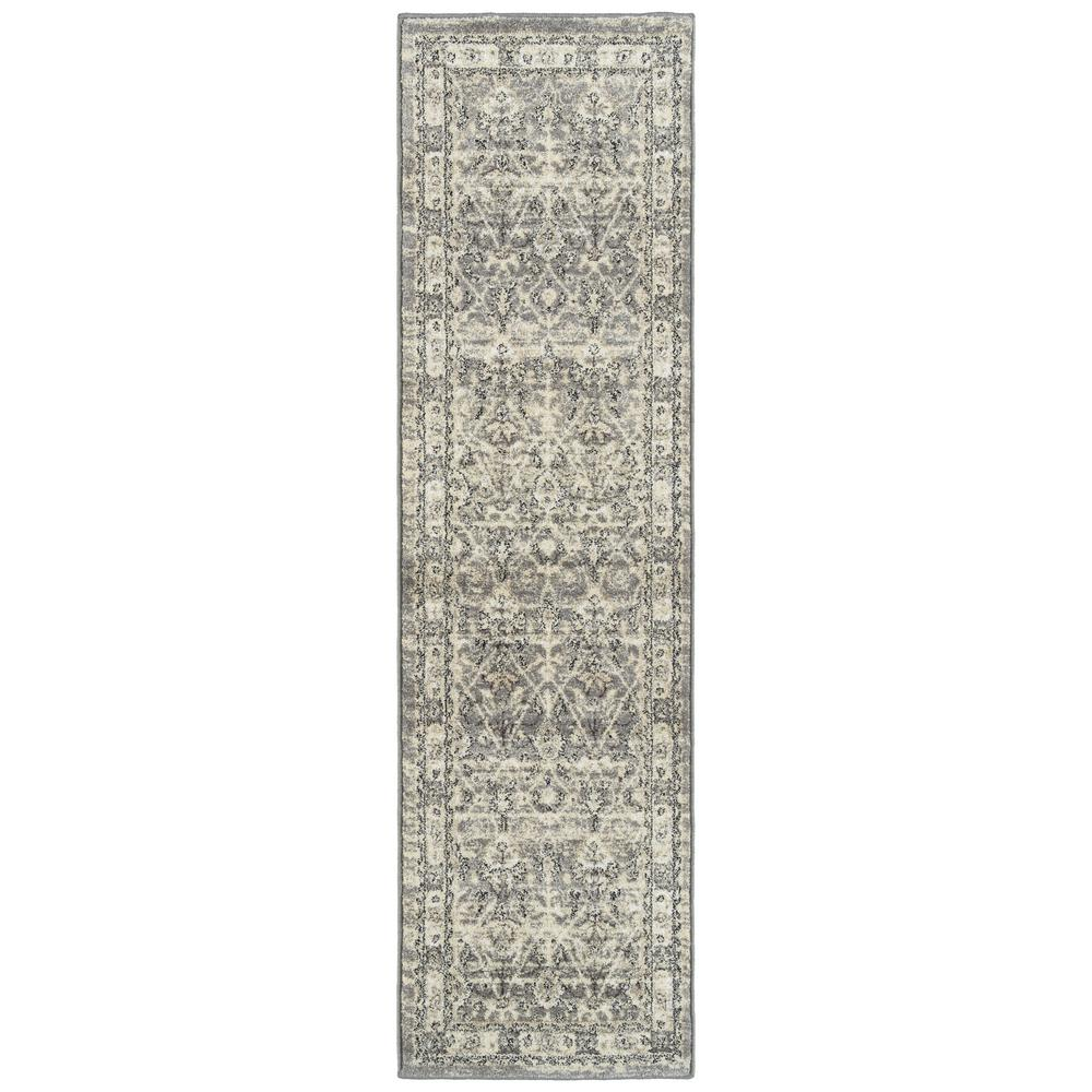 Kaleen McAlester Grey 2 ft. 3 in. x 8 ft. Runner Rug