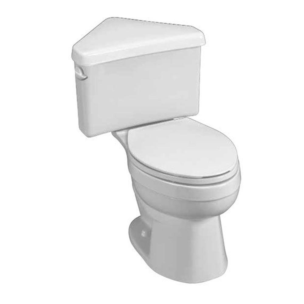 American Standard Titan 2-Piece 1.6 GPF Right Height Round Toilet in White with Triangle Tank-DISCONTINUED