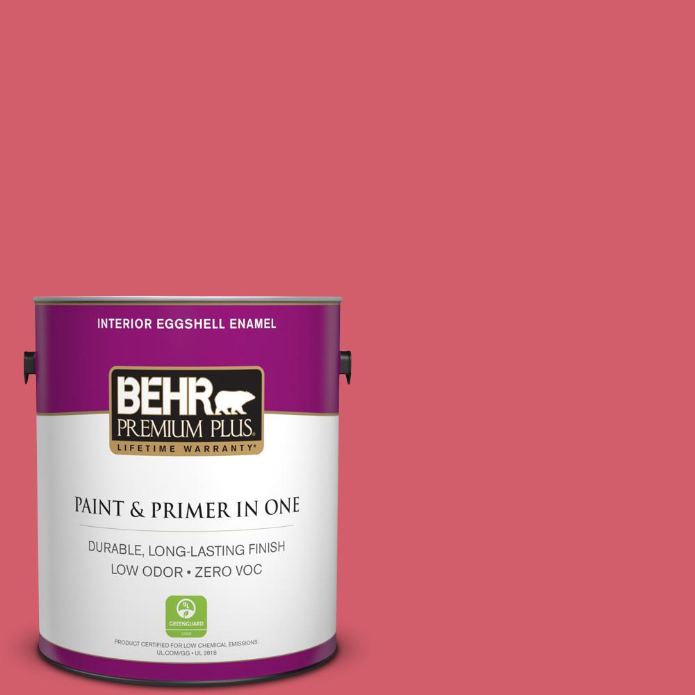 BEHR Premium Plus 1-gal. #140B-6 Italiano Rose Zero VOC Eggshell Enamel Interior Paint