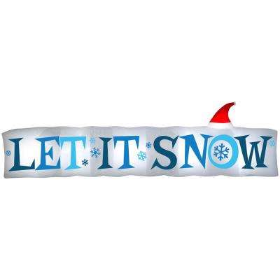 4 ft H. x 14ft W. Inflatable Airblown-Let It Snow Sign-LG
