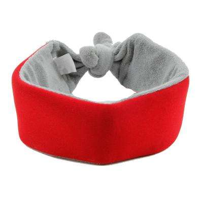 Red Neo-Breeze Flexible Terry Neoprene Ice Pack Insert Able and Adjustable Cooling Dog Neck Wrap