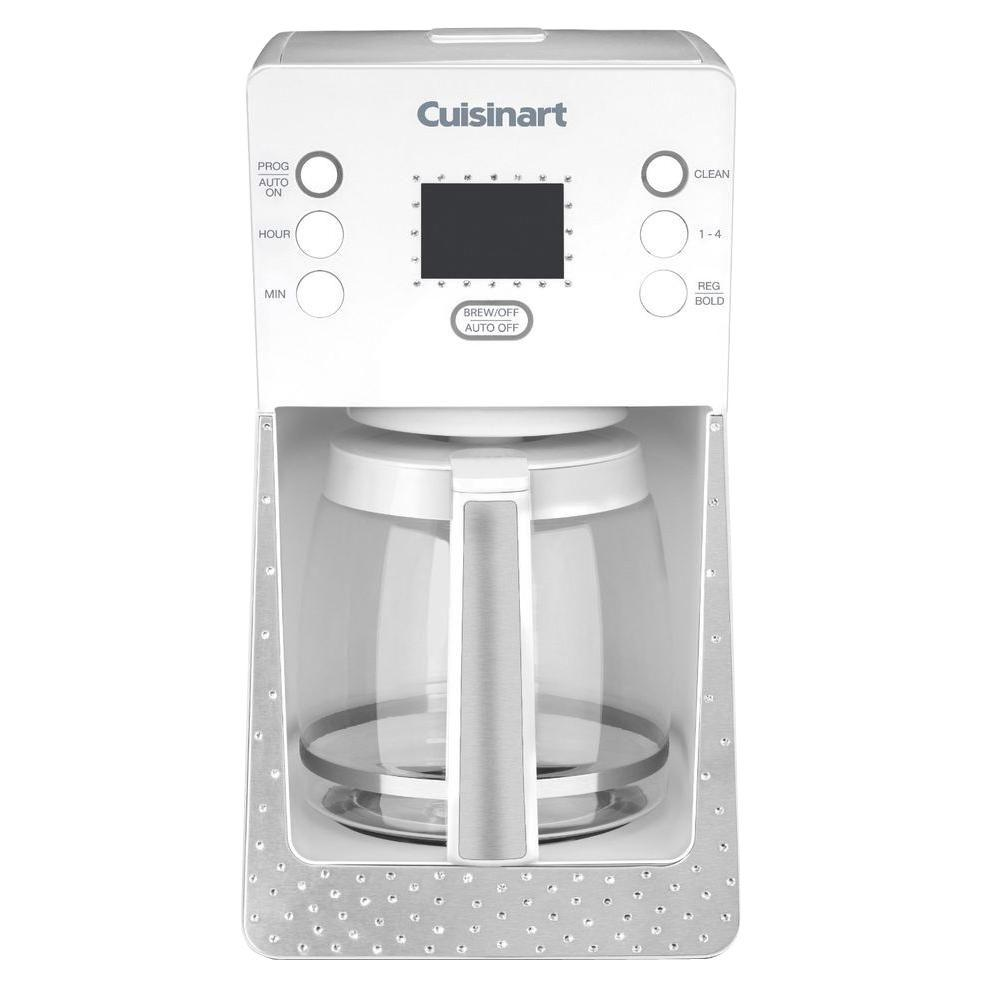 Cuisinart Crystal 14-Cup Programmable Coffee Maker in White