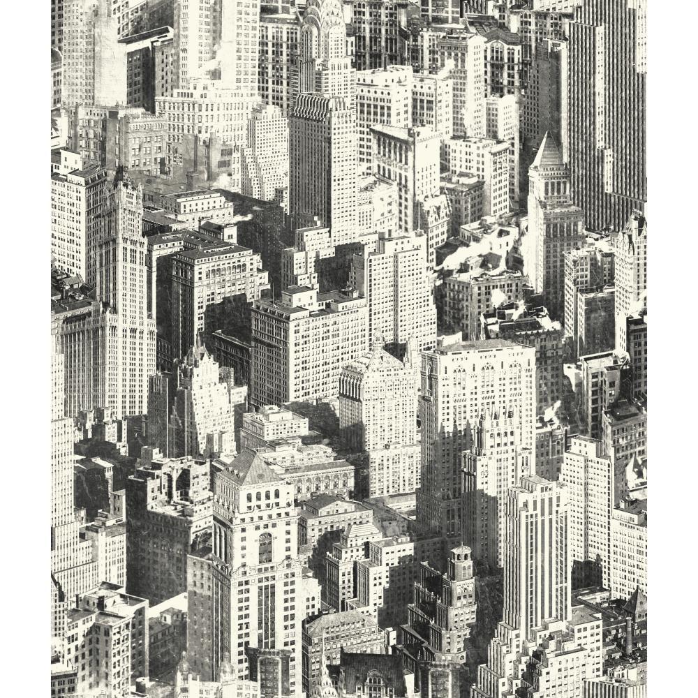 YORK Urban Chic Big Apple Wallpaper, Multi-Colored