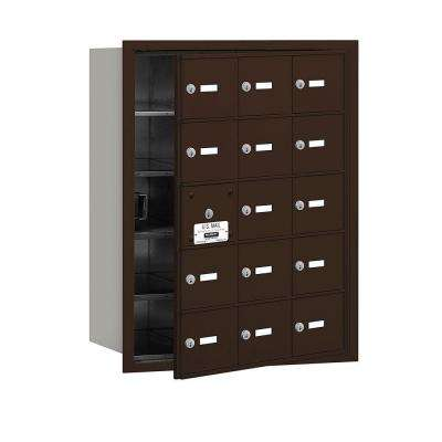 3600 Series Bronze Private Front Loading 4B Plus Horizontal Mailbox with 15A Doors (14 Usable)