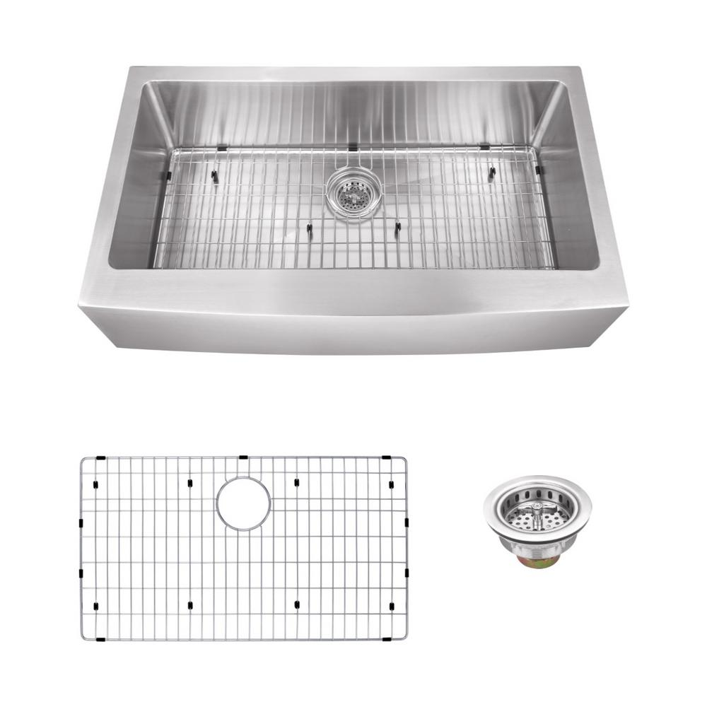 Schon All In One Apron Front Undermount Stainless Steel 36