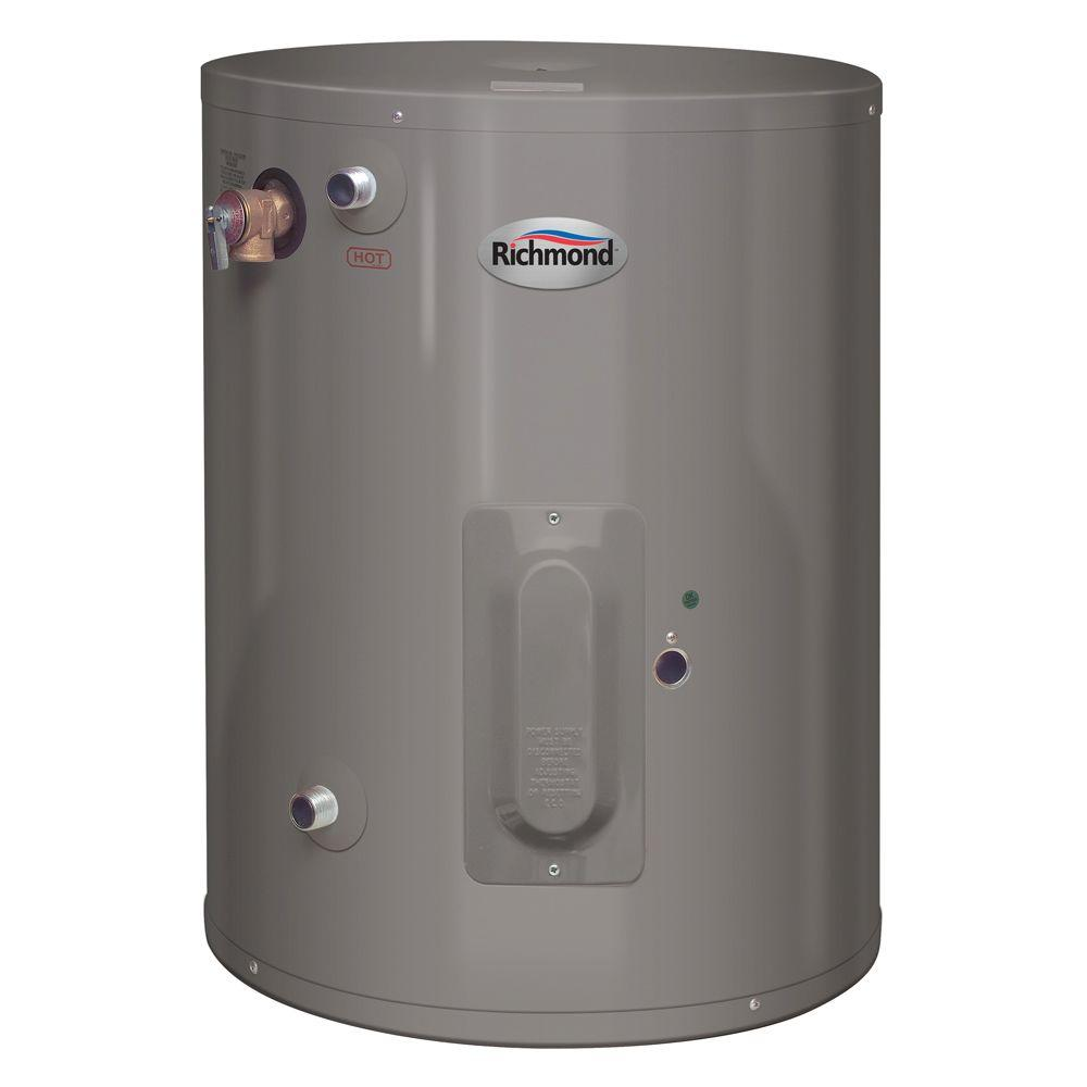 Richmond 30 Gal. 6 Year 2000-Watt Electric Double Element Point of Use Water  Heater-6EP30-D - The Home DepotThe Home Depot
