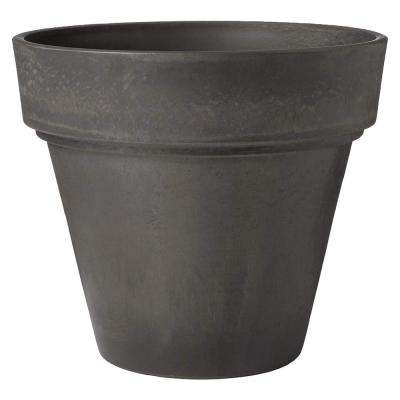 Traditional 16 in. x 13-1/2 in. Dark Charcoal PSW Pot