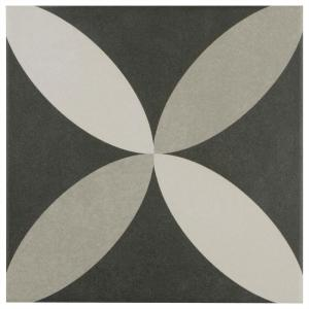 Merola Tile Twenties Petal Encaustic 7 3 4 In X 7 3 4 In