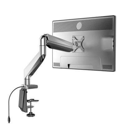 Full Motion Gas Spring Monitor Arm Desk Mounts Stand Fits 10 in. - 34 in. LCD Screens 13.3 lbs. - 33 lbs. Support