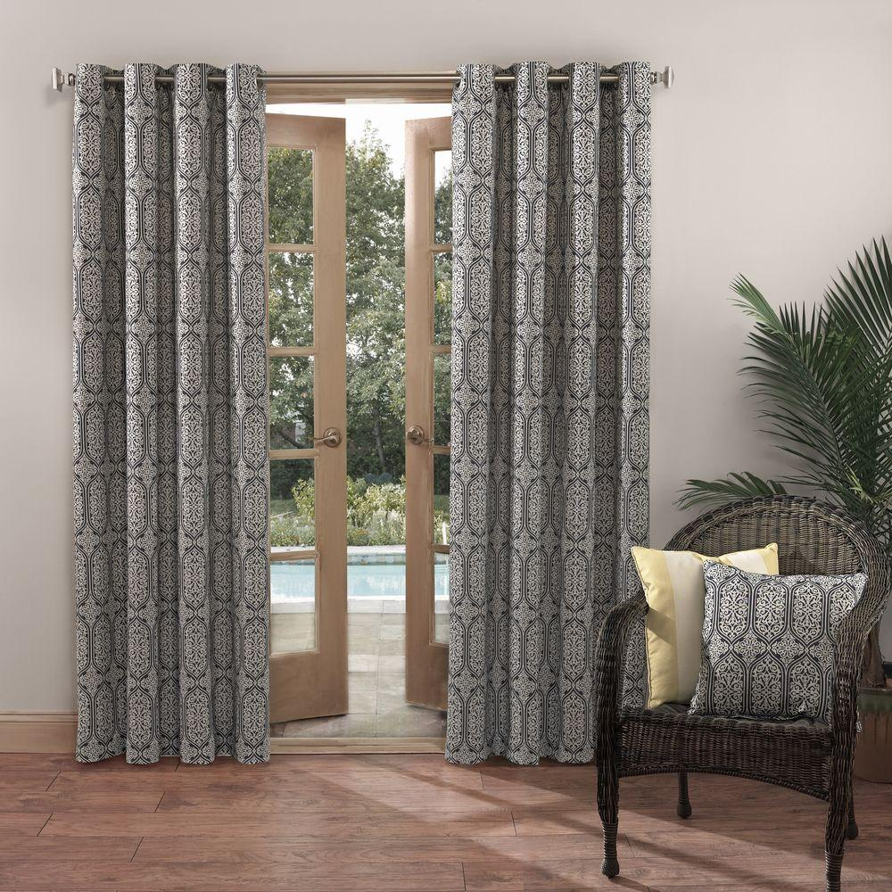 Beautiful Sun Zero Outdoors Semi Opaque Nelly Indigo Indoor/Outdoor Woven Mosaic  Color Window Curtain 52 In. W X 95 In. L (Price Varies By Size) 48970   The  Home ...
