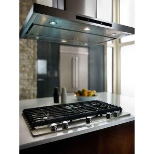 2 kitchenaid 42 in island canopy range hood in stainless steel