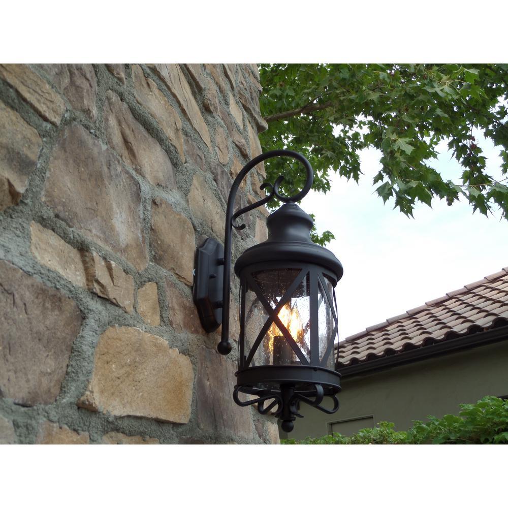 Taysom 2-Light Black Outdoor Wall Mount Barn Light Sconce Lantern
