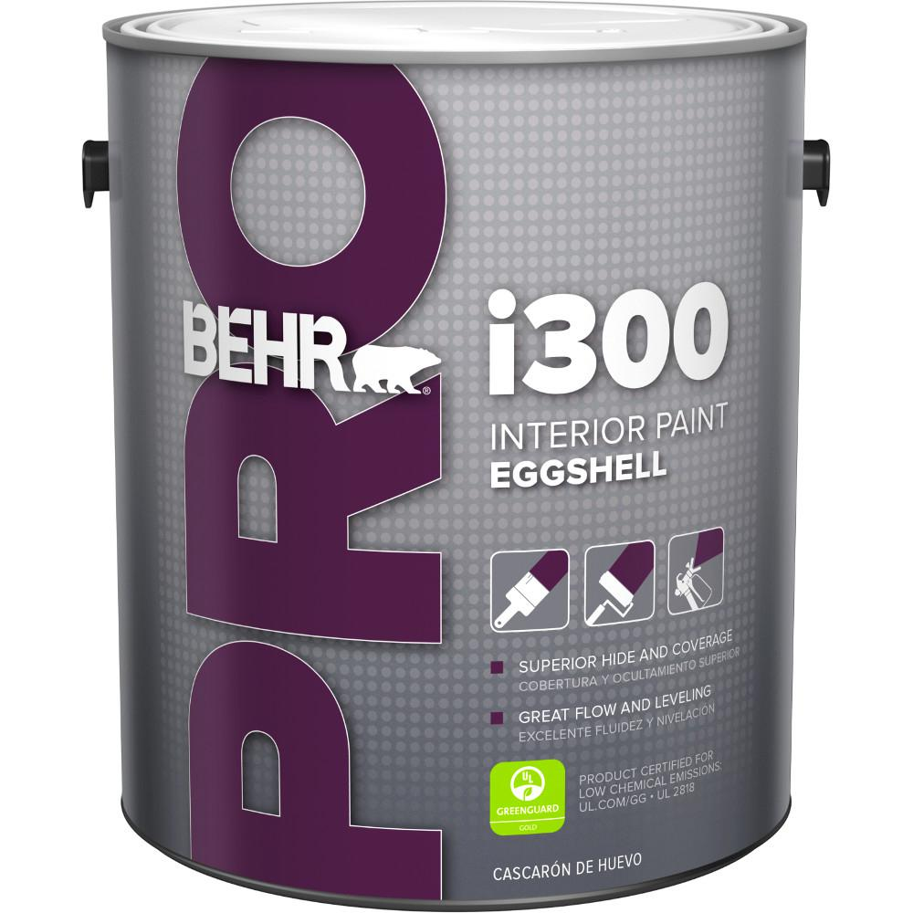 Delicieux BEHR PRO 1 Gal. I300 White Eggshell Interior Paint