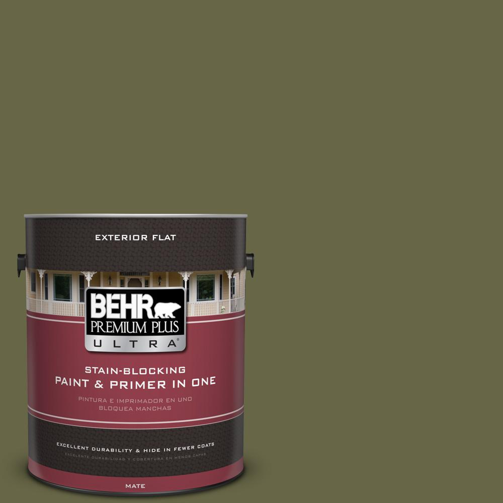 BEHR Premium Plus Ultra 1 gal. #UL200-22 Amazon Jungle Flat Exterior Paint