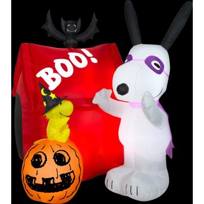 6 ft. H. Halloween Airblown Snoopy Dog House Halloween Inflatable