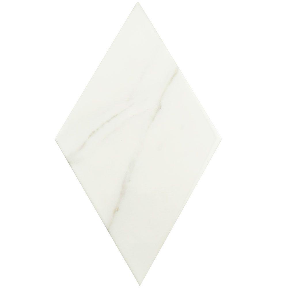 Aurea Flat Grey 6-3/4 in. x 11-3/4 in. Ceramic Wall Tile