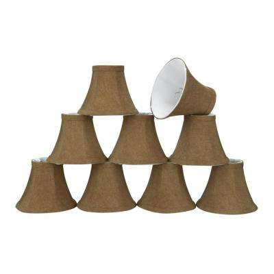 6 in. x 5 in. Rusty Red Bell Lamp Shade (9-Pack)