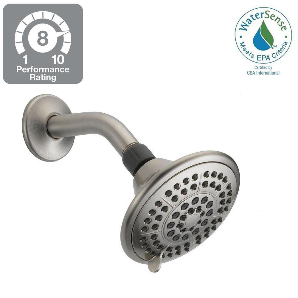 Delta 5-Spray 5 in. Shower Head in Chrome with Pause-75554 - The ...