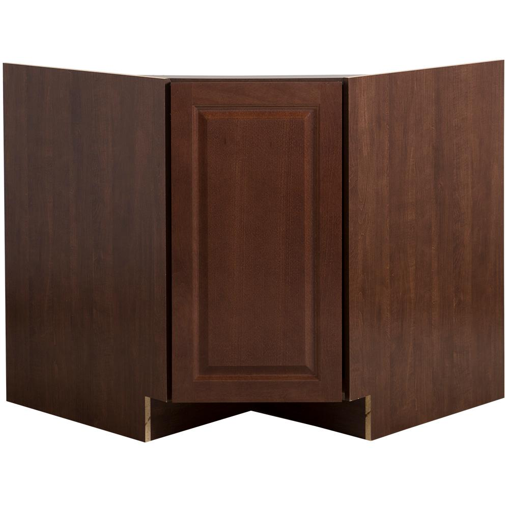 Corner Sink Base Kitchen Cabinet: Hampton Bay Benton Assembled 36 In. X 34.5 In. X 24.6 In