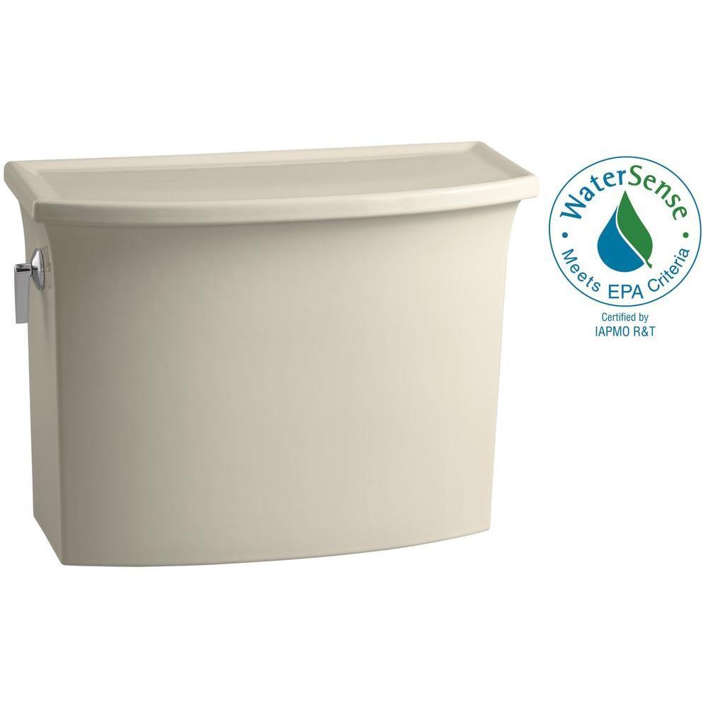 Archer 1.28 GPF Single Flush Toilet Tank Only with AquaPiston Flushing Technology in Almond