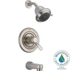 Innovations 1 Handle Tub and Shower Faucet Trim Kit in Stainless  Valve Not  IncludedDelta Lahara 1 Handle Tub and Shower Faucet Trim Kit in Stainless  . Shower Tub Faucet Reviews. Home Design Ideas