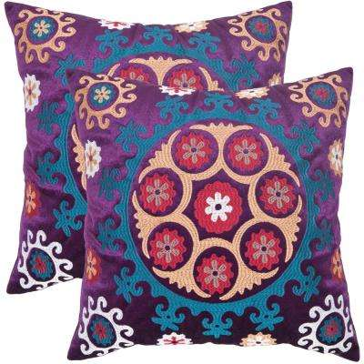 Vanessa Embroidered Pillow (2-Pack)