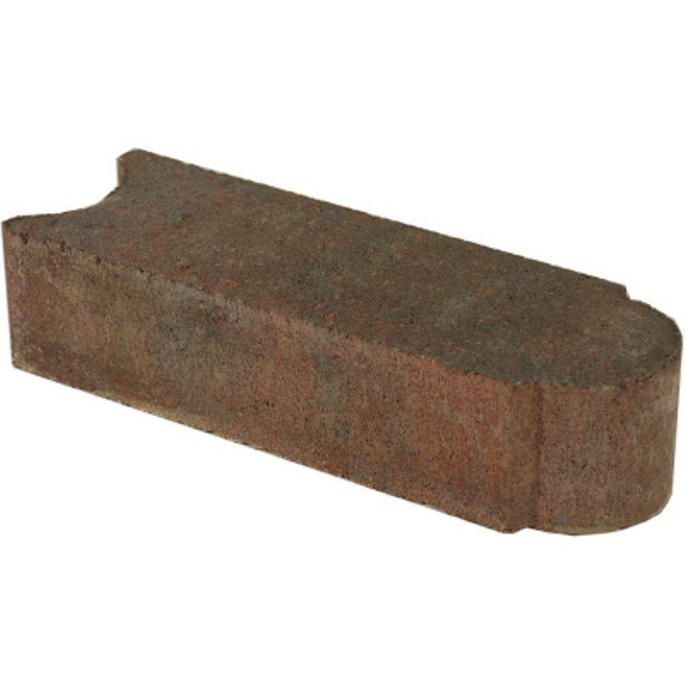 Stone Edger: Oldcastle Edgestone 11.75 In. X 4 In. X 3 In. Red/Charcoal