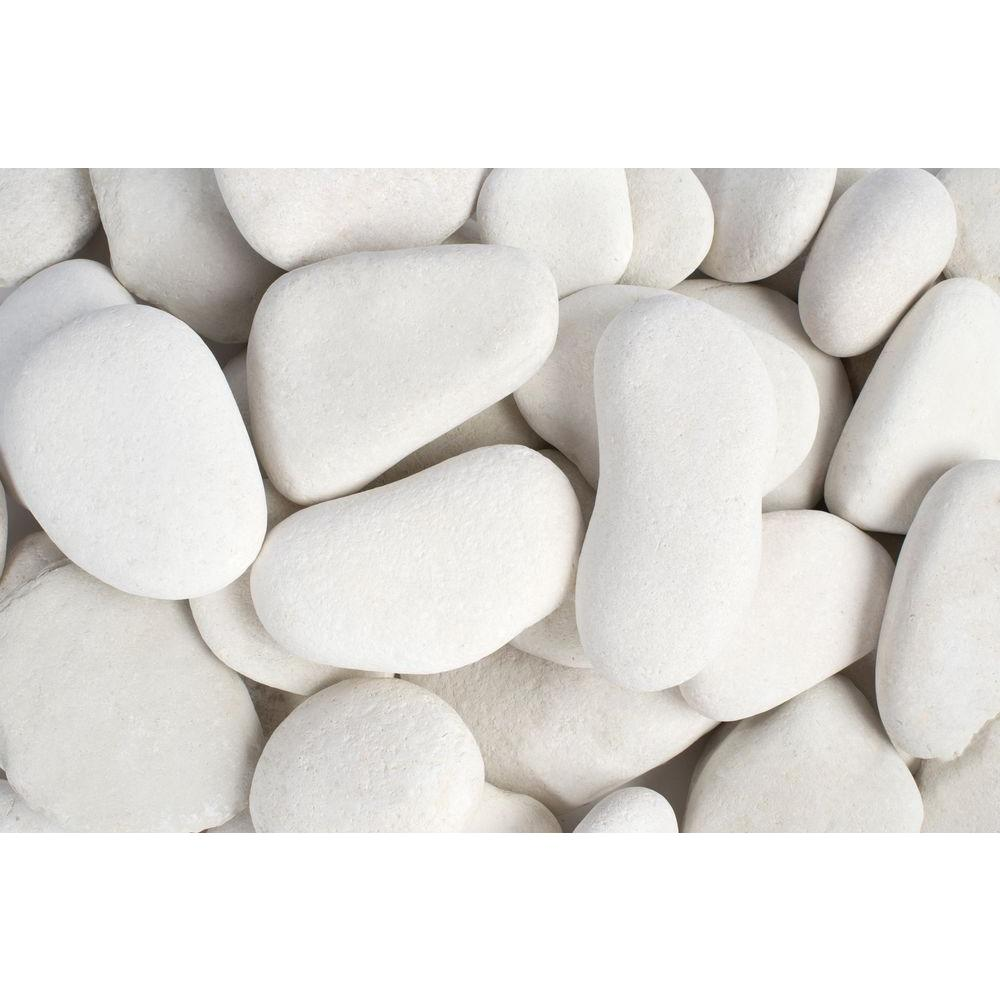 Rain Forest 3 in. to 5 in., 2200 lb. Large Flat Egg Rock Pebbles Super Sack