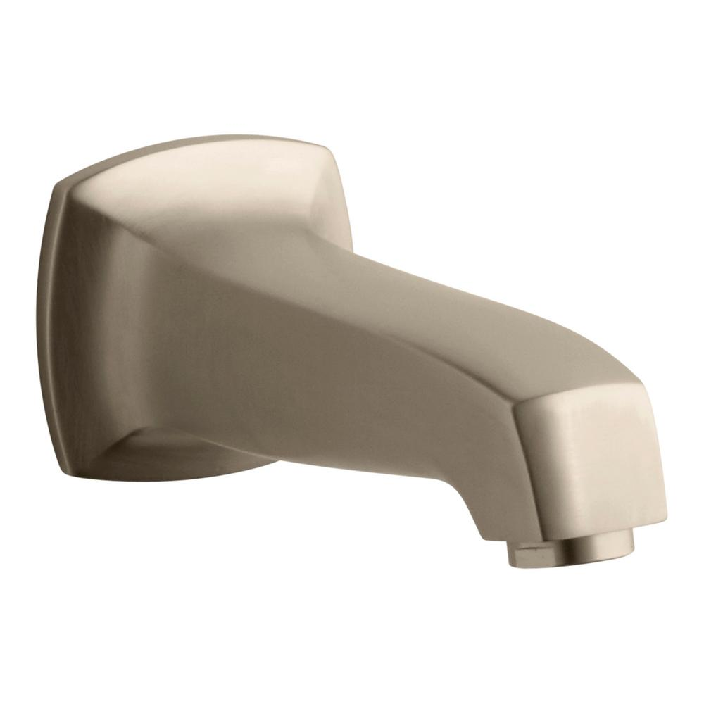 Margaux 6.813 in. Wall Mount Bath Spout in Vibrant Brushed Bronze