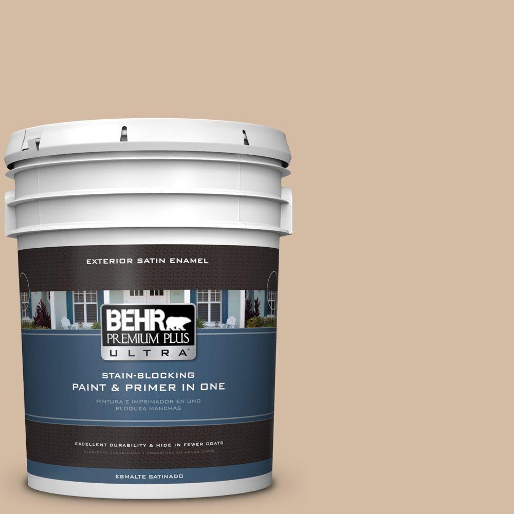 BEHR Premium Plus Ultra 5-gal. #N270-3 Coco Satin Enamel Exterior Paint