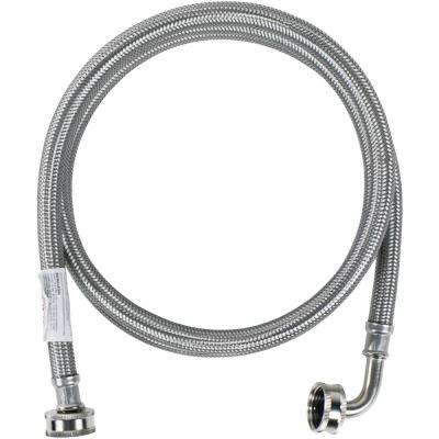 6 ft. Braided Stainless Steel Washing Machine Hose with Elbow