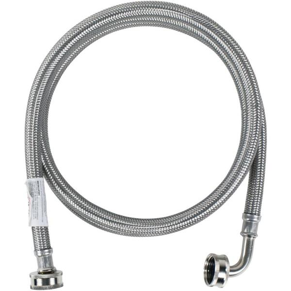 consumer electronics 2 pk CERTIFIED APPLIANCE WM72SSL2PK Braided Stainless Steel Washing Machine Hose with Elbow 6ft