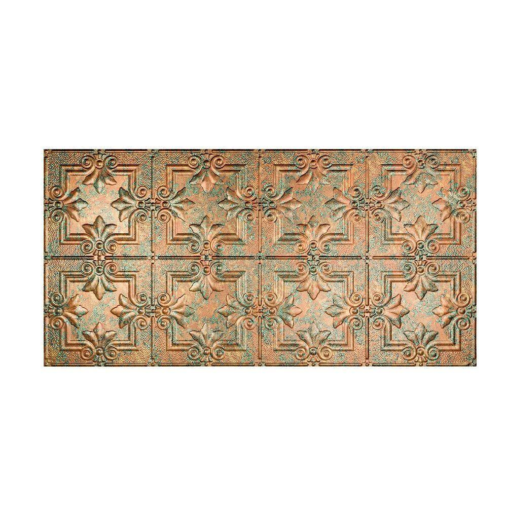 Regalia 2 ft. x 4 ft. Glue-up Ceiling Tile in Copper