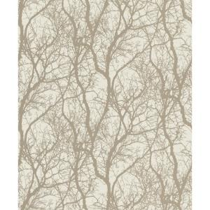 56.4 sq. ft. Wiwen Beige Tree Wallpaper