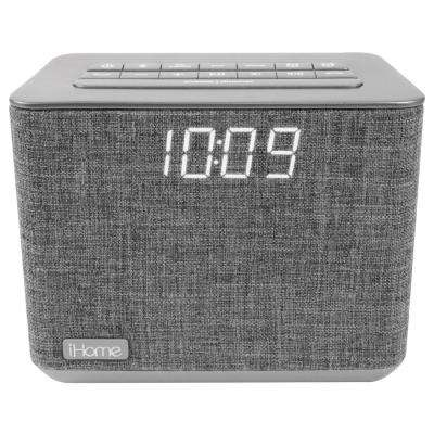 Bluetooth Dual Alarm FM Clock Radio with Speakerphone and USB Charging