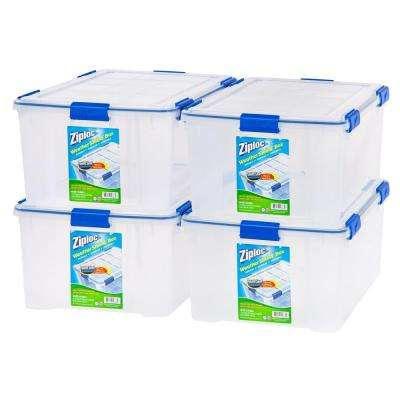 60 Qt. Ziploc Weather Shield Storage Box in Clear (Pack of 4)