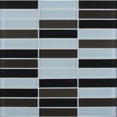 Retro Stax 12 in. x 12 in. x 6mm Glass Mesh-Mounted Mosaic Tile (0.96 sq. ft.)