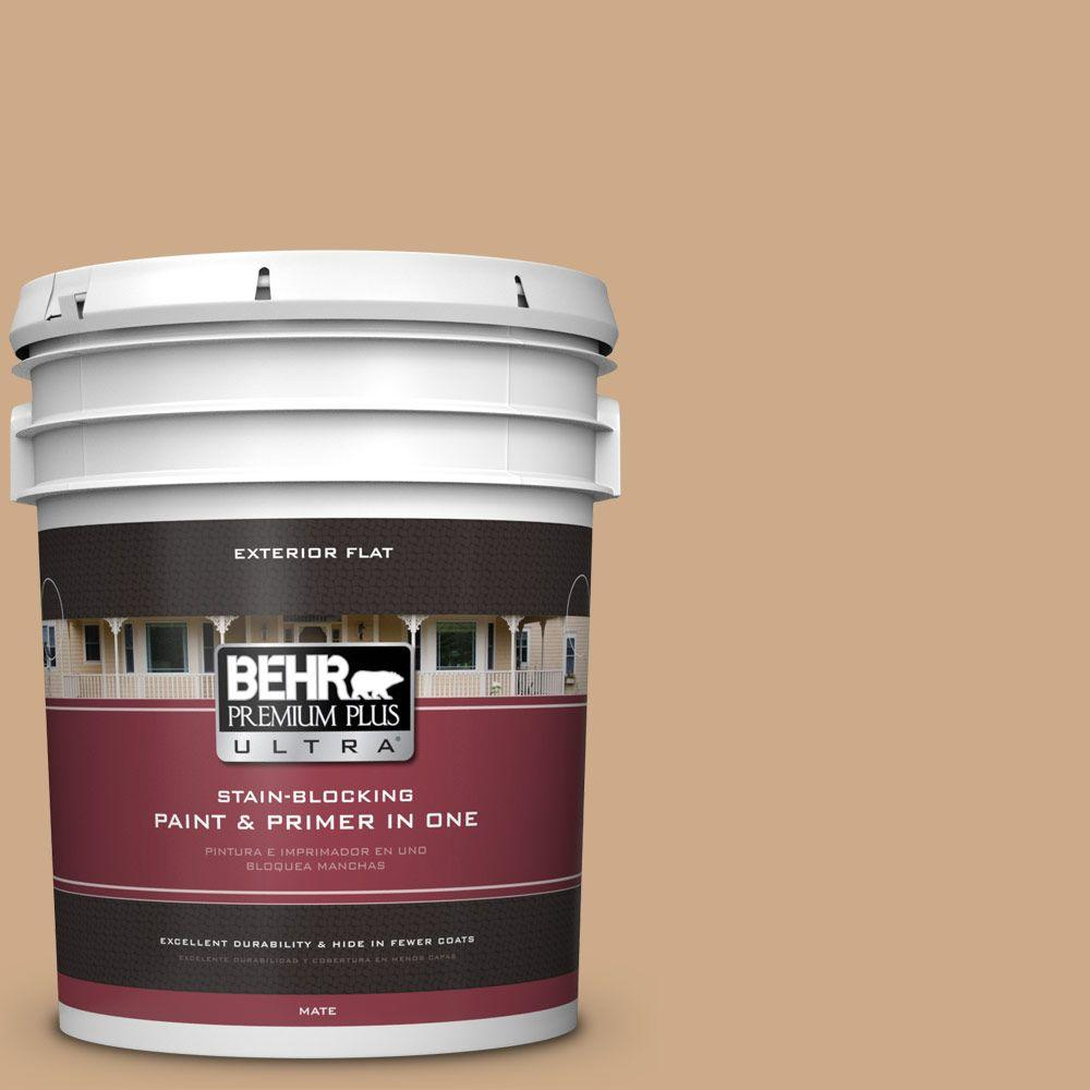 BEHR Premium Plus Ultra 5-gal. #N280-4 Perfect Tan Flat Exterior Paint