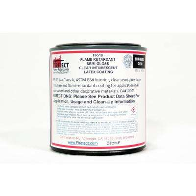 FR-10 8 oz. Clear Semi-Gloss Interior Intumescent Fireproofing Flame Retardant Coating Sample for Wood