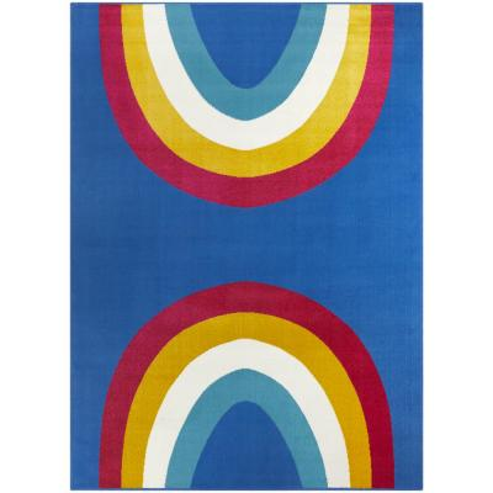 Over The Rainbow Blue 5 ft. x 7 ft. Area Rug