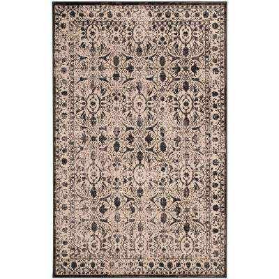 Brilliance Cream/Black 4 ft. x 6 ft. Area Rug